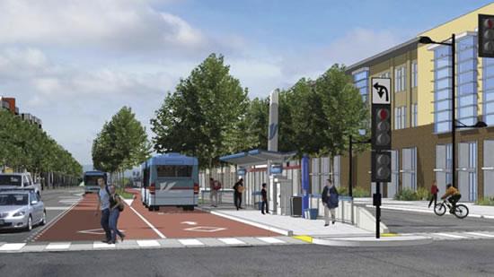 BRT Depiction of Proposed Dedicated Bus Lanes