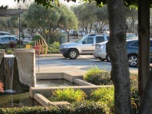 Library- busy entrance and San Antonio entrance