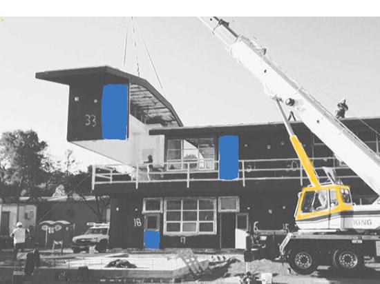 "Los Gatos 10 room school ""custom modular"" building from Meehleis"