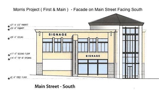 Morris Project, Los Altos, First and Main - Main Street facade