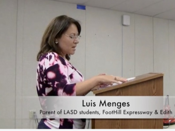 Parent speaks on Egan School Traffic at Los Altos School District Meeting
