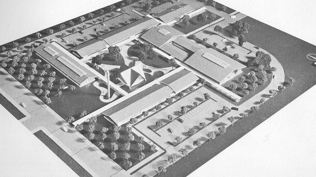 The original plan for Los Altos Civic Center