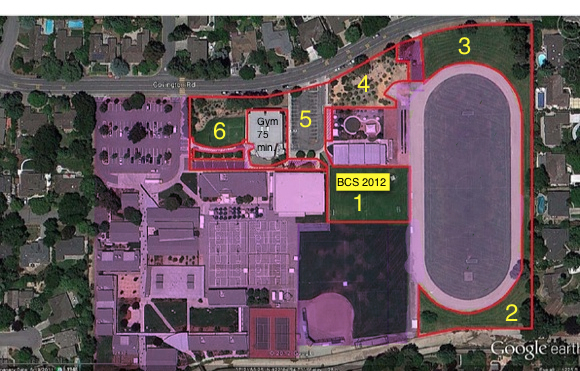 BCS footprint on Blach this year. Purple areas are NOT for use of BCS. The yellow rectangle is the portable location.