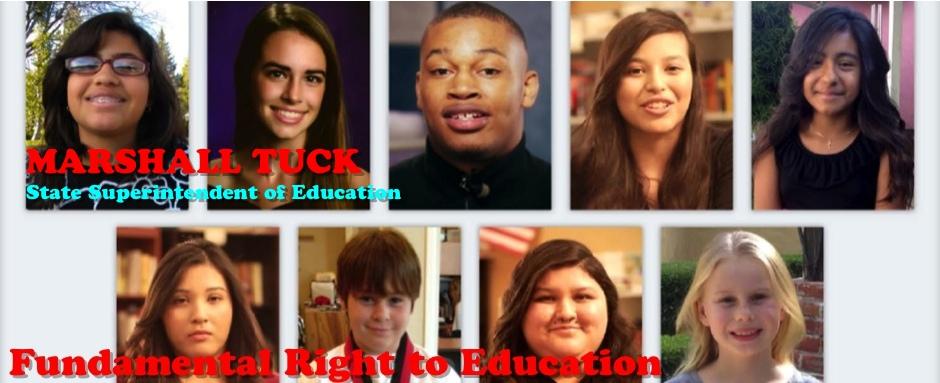 faces of 9 children, plaintiffs in Vegara case. studentsmatter.org