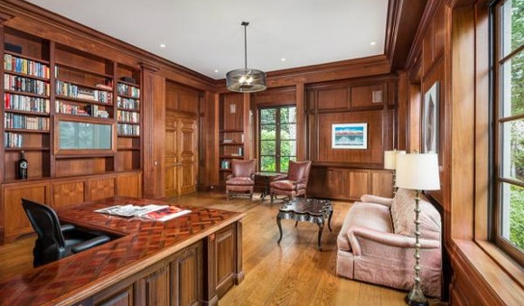 Library in Whitman Atherton Home. On market Ap 2014. CLICK for bizjournal.com article