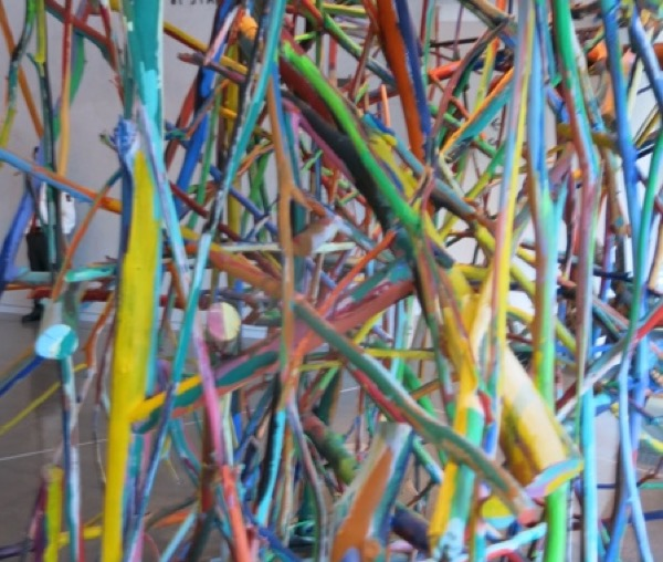 """Detail, Arnoldi, """"Untitled,"""" 1981 The Anderson Collection at Stanford University"""