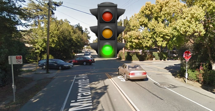 Los Altos School District is asking the City of Los Altos to pay for a Traffic Signal at Miramonte and Covington