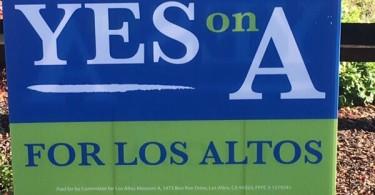 Los Altos Measure A Lawn Sign - YES