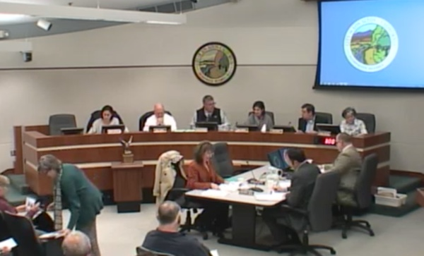 Los Altos Planning Commission on Jan. 7, 2013 reviewing the report of the ad hoc Downtown Buildings Committee.
