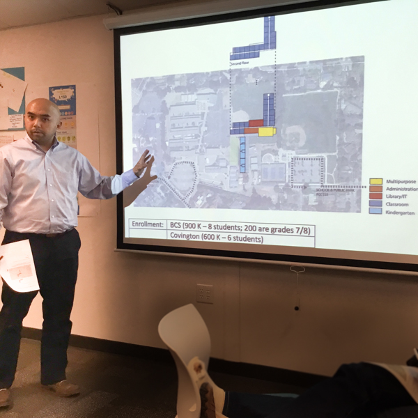 Cedric Novenario explains the proposed traffic flows of LASD BCS Co-location sites