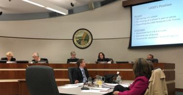 Los Altos City Council discussing whether to continue with the joint city-school public lands committee. They decided to quit.