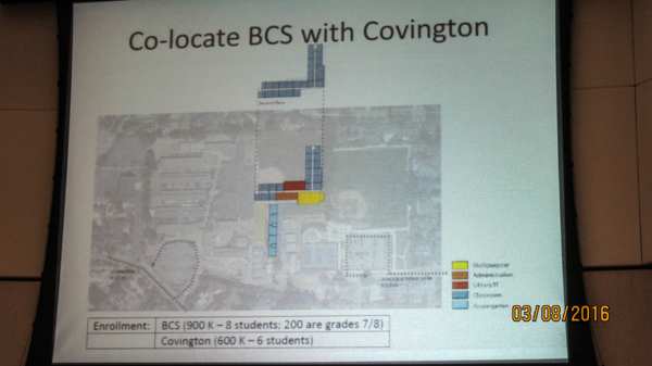 Sketch of a way to site a 900 student school on Covington