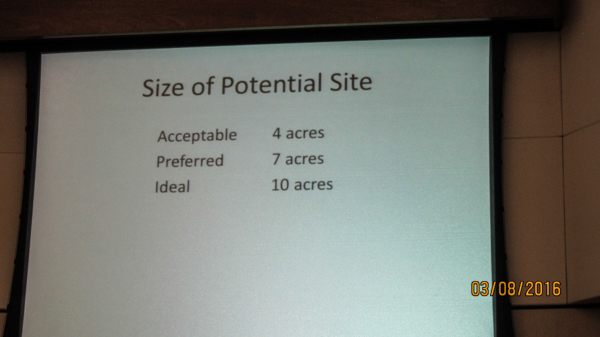 The Council check with School Trustee Logan, that these site sizes were what people are aiming for...