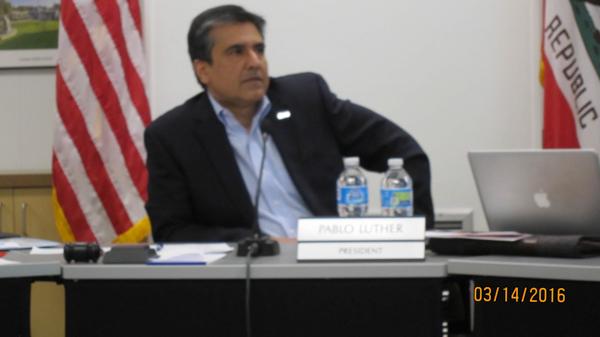 Pablo Luther, Los Altos School District, LASD tenth site BCS decision