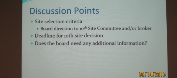 Discussion Points about LASD Board Decision on Charter Site