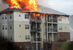 4 story apt. building on fire