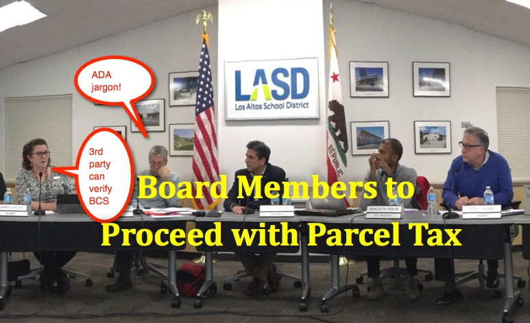 LASD Parcel Tax. Draft ballot will have some language revised.