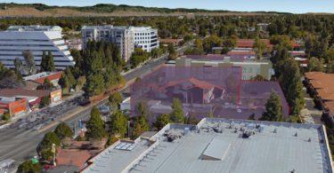 4880 El Camino - building mass of 4 story plan plus neighboring building envelops