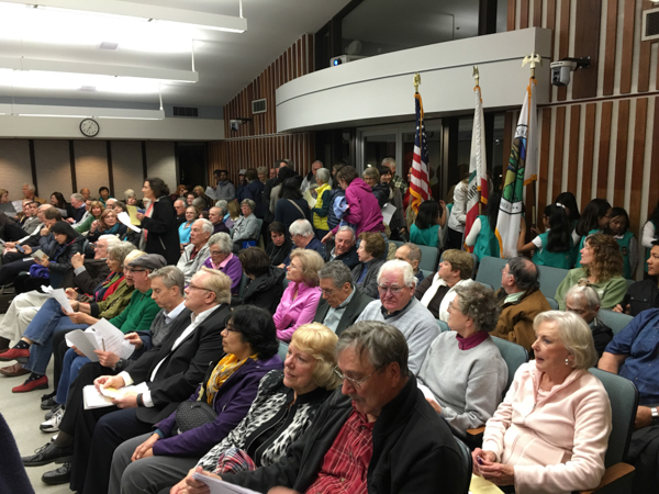 "Senior citizens turned out en masse at city council to try to keep the Senior Commission from being ""demoted."" It was not demoted."