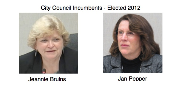 The City will benefit if both incumbents are re-elected. Jeannie Bruins and Jan Pepper deserve your vote.