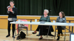 Left to Right: Jane Reed, Mary Prochow, Jan Pepper. Los Altos School District . Almond School. Los Altos City Council