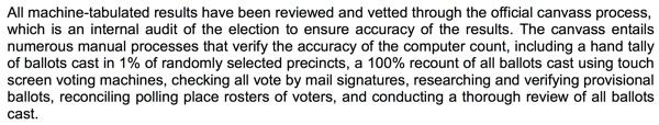 Extract from Dec. 5 Registrar Press Release Los Altos City Council Election