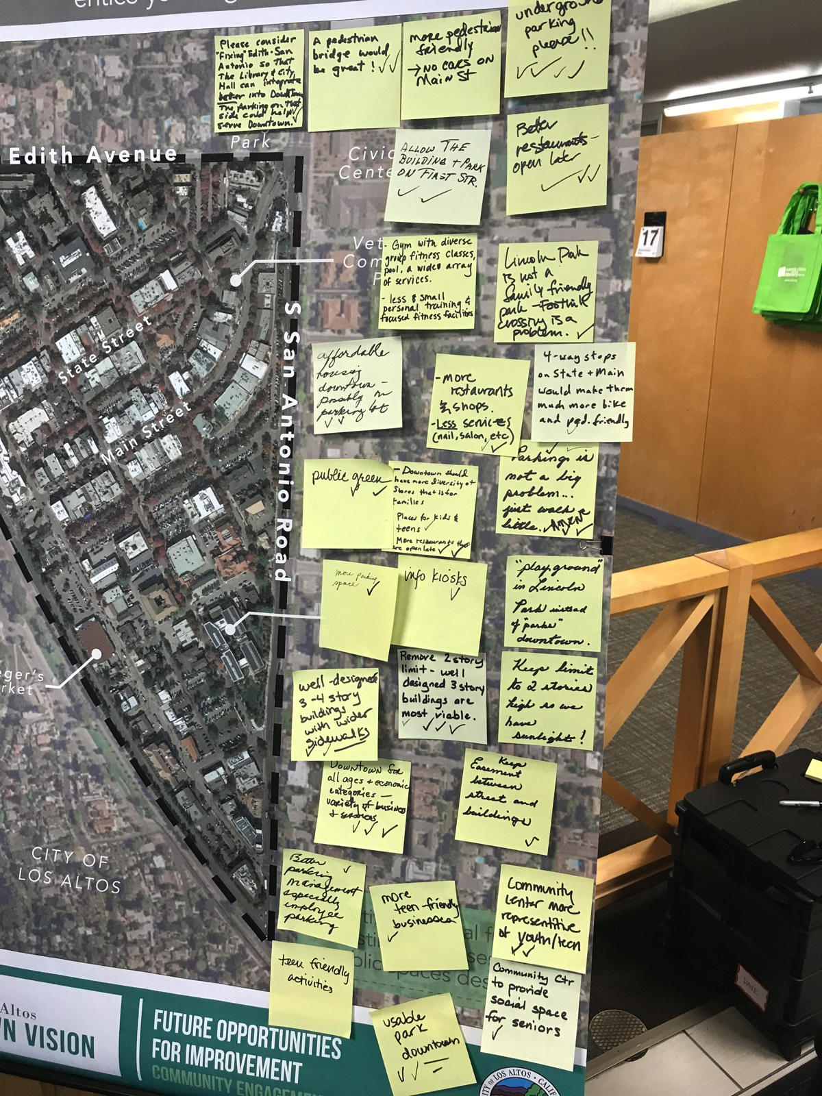 Los Altos Downtown Visioning Map of the Triangle