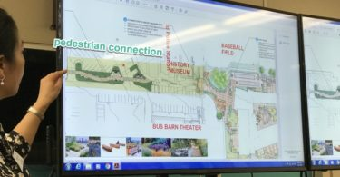 Pedestrian connection concept for Hillview Community Center project