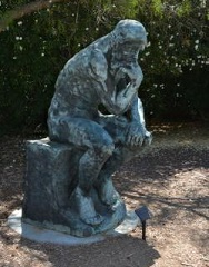 Replica of Rodin's The Thinker