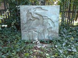 Egrets bas relief