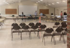 Los Altos Youth Center - Counting Storm Drain Fee ballots with empty audience seating