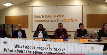 Audience questions at the Los Altos Affordable Housing Aliiance event Feb. 27, 2020