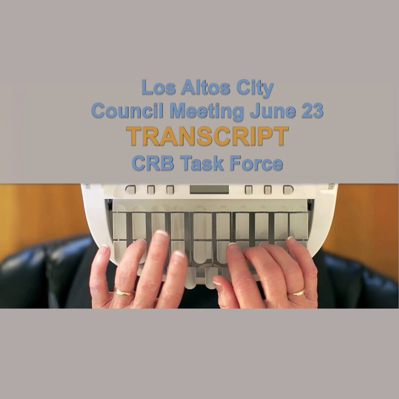 transcription machine with hands typing