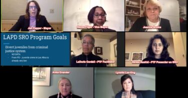 Justice Vanguard video. SRO at Los Altos High School, Renee Rashid, La Doris Cordell, Neysa Fligor, Lynette Lee-eng