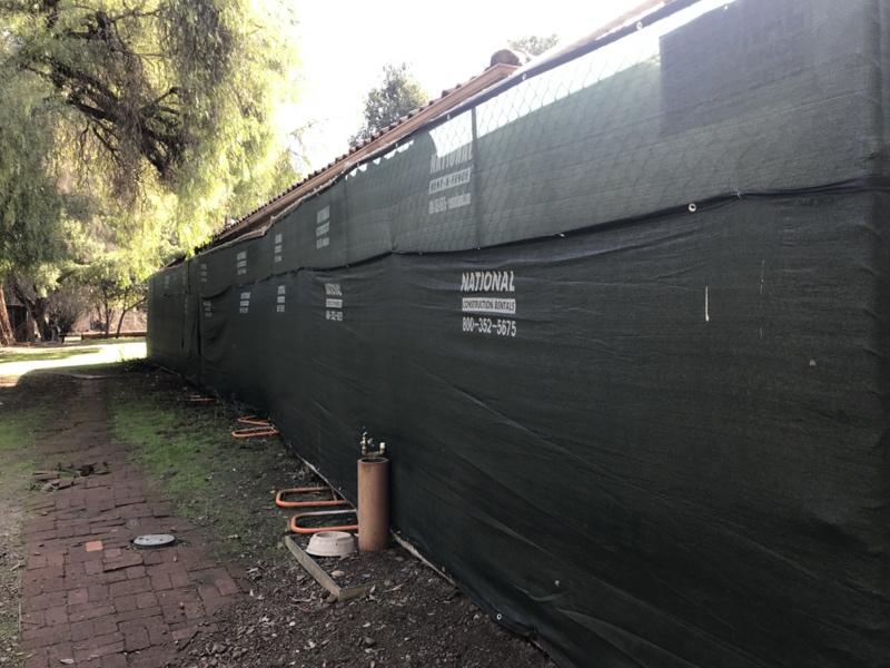 Halsey House long wall Jan 2021