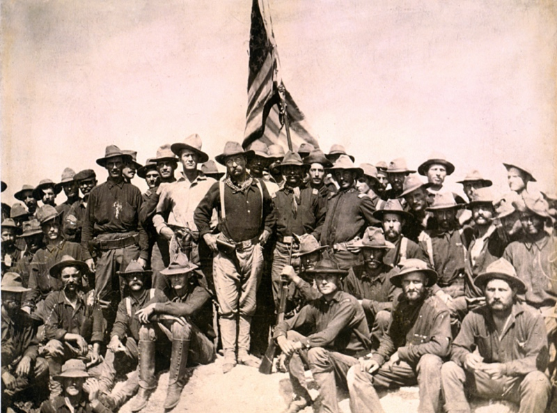 Teddy Roosevelt and the Rough Riders victory in Cuba