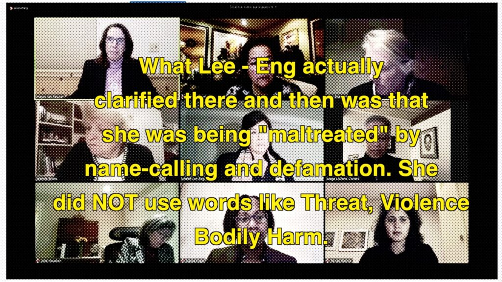 Lee-Eng not her words at all